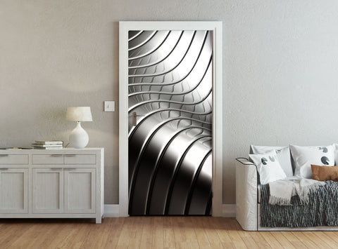 ohpopsi Metallic Steel Curves Accent Wall/Door Mural