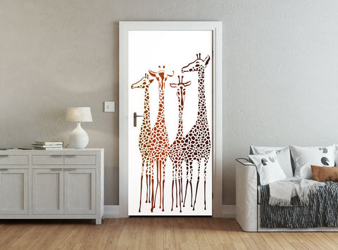ohpopsi Giraffe Illustration Accent Wall/Door Mural