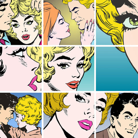 ohpopsi Pop Art 56x56cm Framed Canvas Wall Art