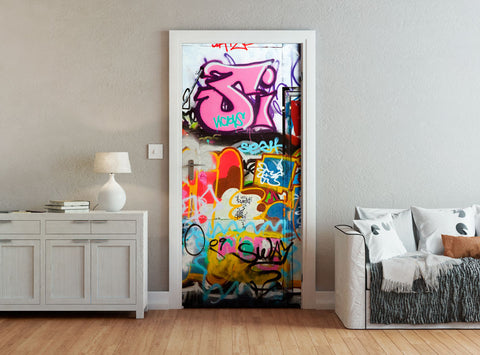 ohpopsi Urban Street Art Graffiti Accent Wall/Door Mural