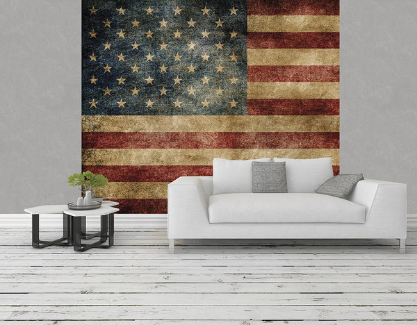Ohpopsi american flag grunge wall mural for American flag wall mural