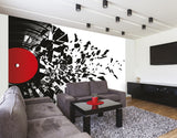ohpopsi Smashed Vinyl Record Music Wall Mural