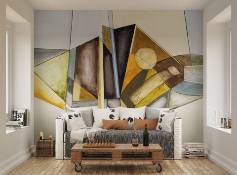 ohpopsi Abstract Modernist Geometric Wall Mural
