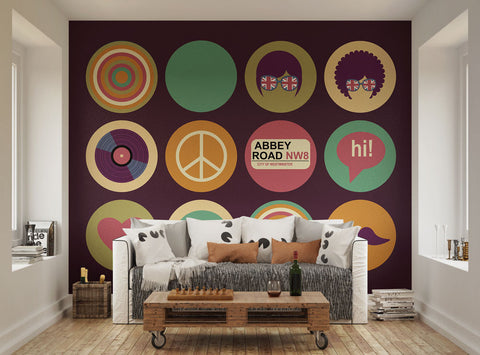 Ohpopsi vintage union jack wall mural for Abbey road wall mural