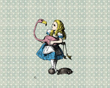 ohpopsi Alice In Wonderland Flamingo Croquet Wall Mural
