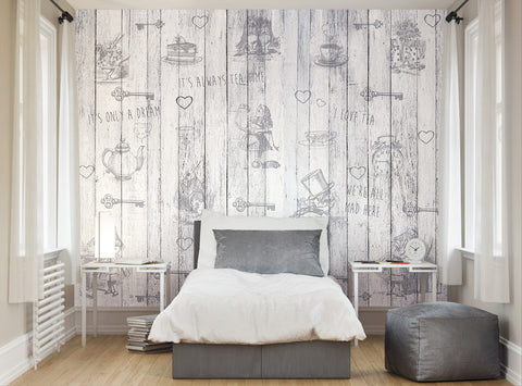 ohpopsi Alice In Wonderland Explore Wall Mural