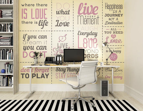 ohpopsi Sweet Advice Wall Mural