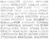 ohpopsi City Text Wall Mural