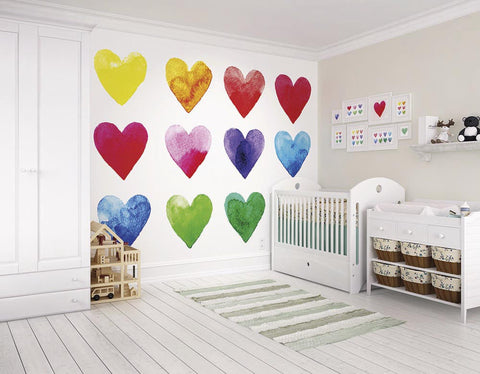 ohpopsi Colour My Heart Wall Mural