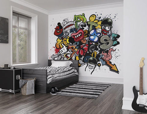 ohpopsi Spray Paint Wall Mural
