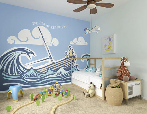 ohpopsi Sea Of Adventure Wall Mural