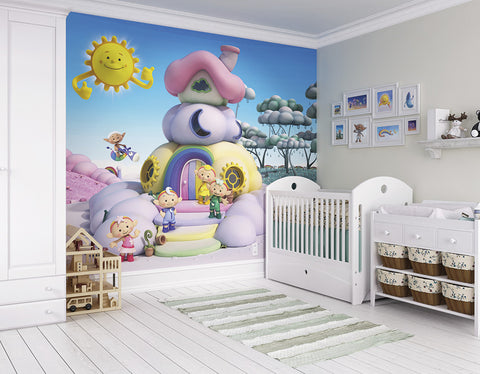 ohpopsi Cloudyhouse 3D Cloudbabies Wall Mural