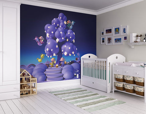 ohpopsi Nighting Time 3D Cloudbabies Wall Mural