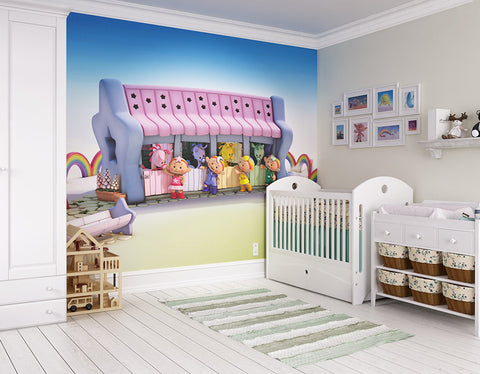 ohpopsi Skyhorsies At The Stables 3D Cloudbabies Wall Mural