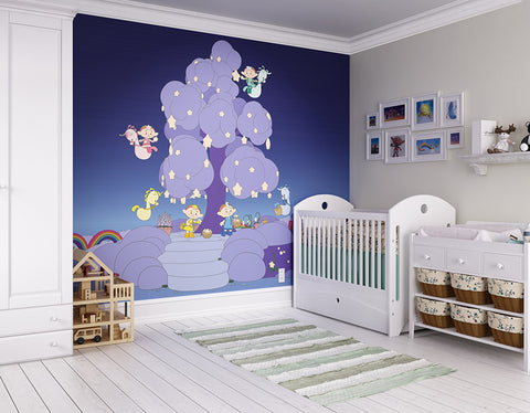 ohpopsi Nighting Time 2D Cloudbabies Wall Mural