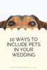 The 10 most adorable ways to include a pet in your wedding