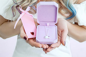 Pale pink luxury Velvet Box - Statement Made Jewellery