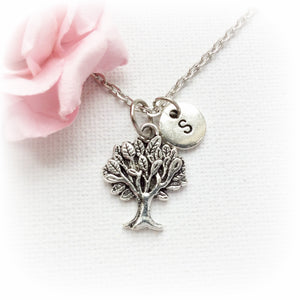 Tree with initial necklace - Statement Made Jewellery
