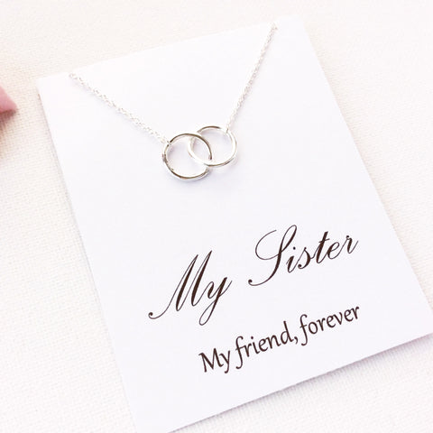 My sister my friend forever, sister necklace, message card necklace, MCSISSP1 , Message card necklace - Statement Made Jewellery, Statement Made Jewellery  - 3
