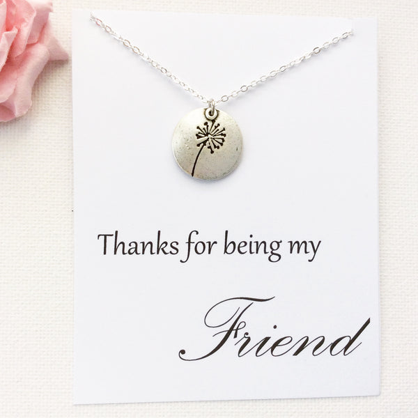 Thanks for being my friend, friends necklace, message card necklace, SPMCNFRIE2 , Message card necklace - Statement Made Jewellery, Statement Made Jewellery  - 1