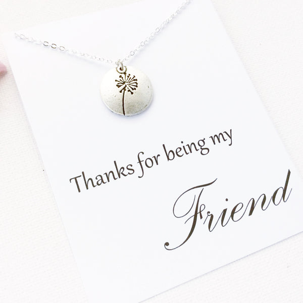 Thanks for being my friend, friends necklace, message card necklace, SPMCNFRIE2 , Message card necklace - Statement Made Jewellery, Statement Made Jewellery  - 3