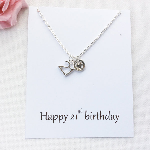 Happy 21st Birthday, personalised message card, message card necklace, SPMCN21st , Message card necklace - Statement Made Jewellery, Statement Made Jewellery  - 3