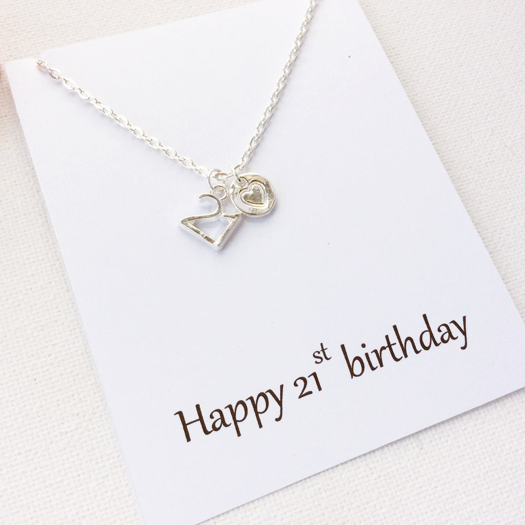 Happy 21st Birthday, personalised message card, message card necklace, SPMCN21st , Message card necklace - Statement Made Jewellery, Statement Made Jewellery  - 1