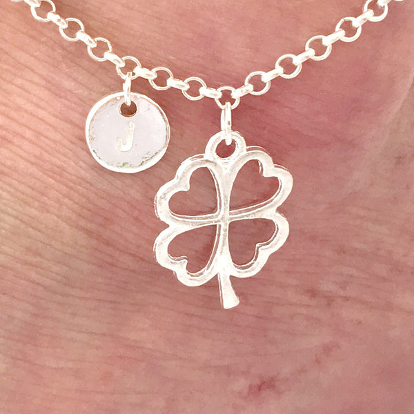 Silver personalised shamrock Anklet - Statement Made Jewellery