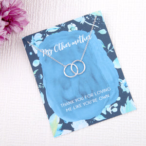 Other mother blended family gifts entwined circles message card necklace