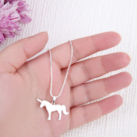 Image of Gold Unicorn gifts unicorn message card necklace - Statement Made Jewellery