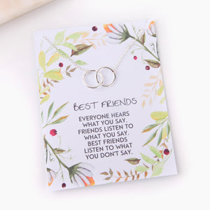 Personalised best friend bff gift necklace foliage style - Statement Made Jewellery