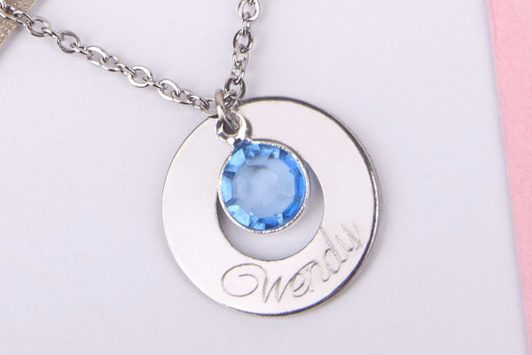 Silver engraved name gift Stainless steel necklace - Statement Made Jewellery