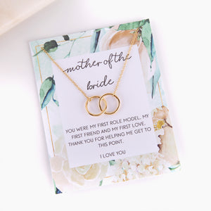 Personalised mother of the bride cream peony style gift necklace - Statement Made Jewellery