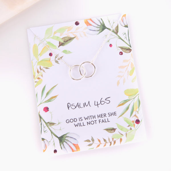 Personalised Psalm 46:5 foliage style religious gift necklace - Statement Made Jewellery
