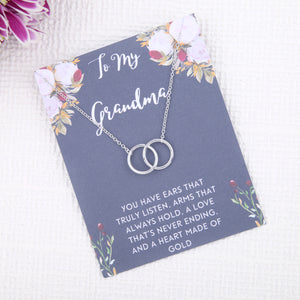 Personalised bespoke grandma gift present uk - gifts for grandmother birthday message card necklace - Statement Made Jewellery