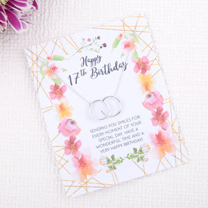 Personalised 17th birthday gift ideas present uk - message card necklace - Statement Made Jewellery