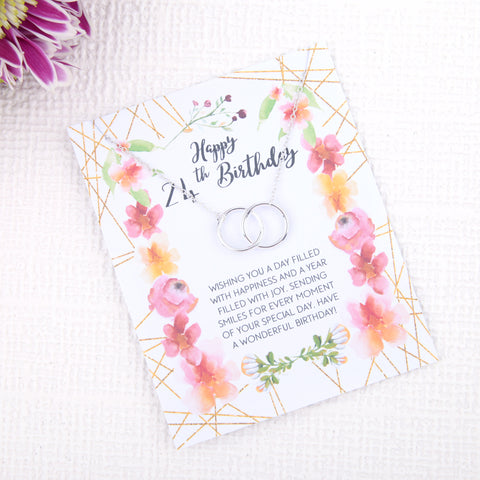Image of Personalised 24th birthday gift ideas present uk - message card necklace  | Statement Made Jewellery - Statement Made Jewellery