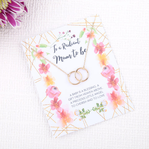 Personalised mother to be gift ideas present uk - baby shower gift message card necklace  | Statement Made Jewellery - Statement Made Jewellery