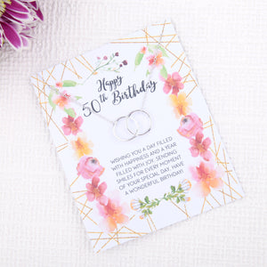 Personalised 50th birthday gift ideas present uk - message card necklace  | Statement Made Jewellery - Statement Made Jewellery