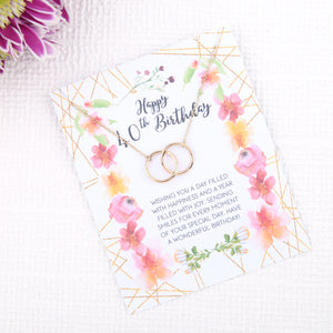 Personalised 40th birthday gift ideas present uk - message card necklace  | Statement Made Jewellery - Statement Made Jewellery