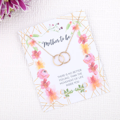 Image of Personalised mother to be new baby gift present uk -  baby shower gift message card necklace  | Statement Made Jewellery - Statement Made Jewellery