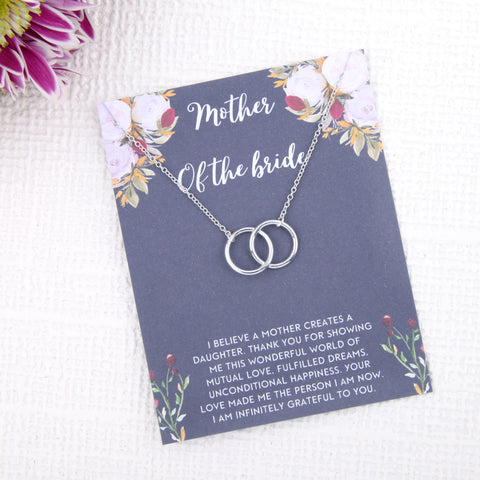 Personalised mother of the bride gift present uk - mother of the bride on the day of wedding gift message card necklace  | Statement Made Jewellery - Statement Made Jewellery