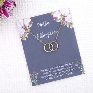 Personalised mother of the groom gift present uk - mother of the groom on the day of wedding gift message card necklace - Statement Made Jewellery