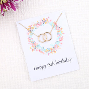 Personalised bespoke 18th birthday gift ideas present uk - message card necklace  | Statement Made Jewellery - Statement Made Jewellery