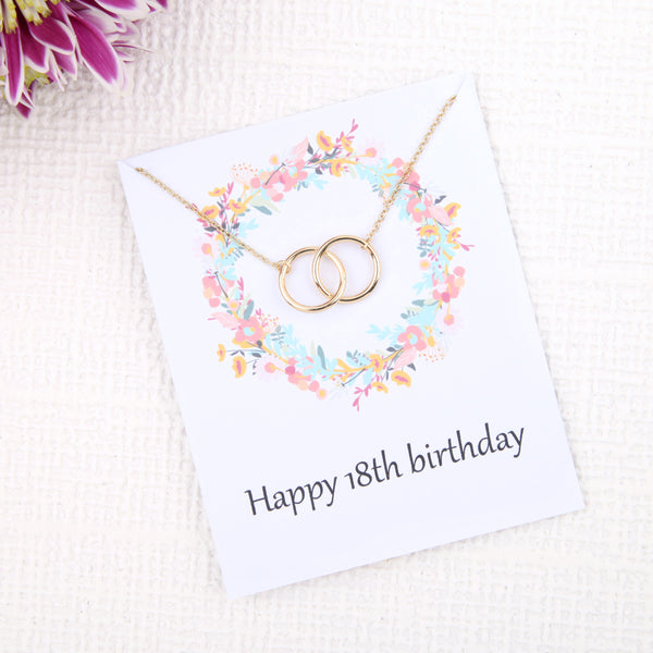 Personalised bespoke 18th birthday gift ideas present uk - message card necklace - Statement Made Jewellery