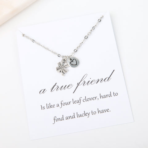 A true friend is like a four leaf clover message card gift - Statement Made Jewellery