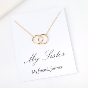 My sister my friend forever gold message card gift - Statement Made Jewellery