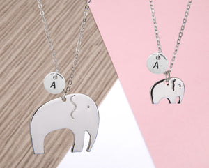 Mother and daughter elephant necklace - Statement Made Jewellery
