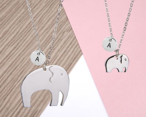 Image of Mother and daughter elephant necklace - Statement Made Jewellery