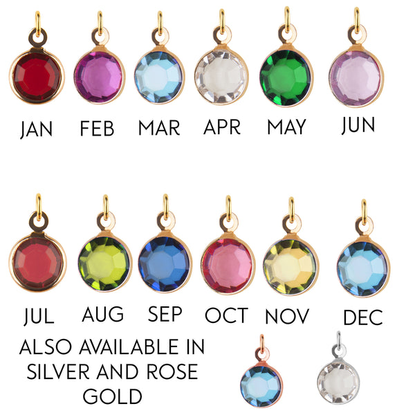 Medium Gold birthstone add-on charm - add onto existing orders only! - Statement Made Jewellery